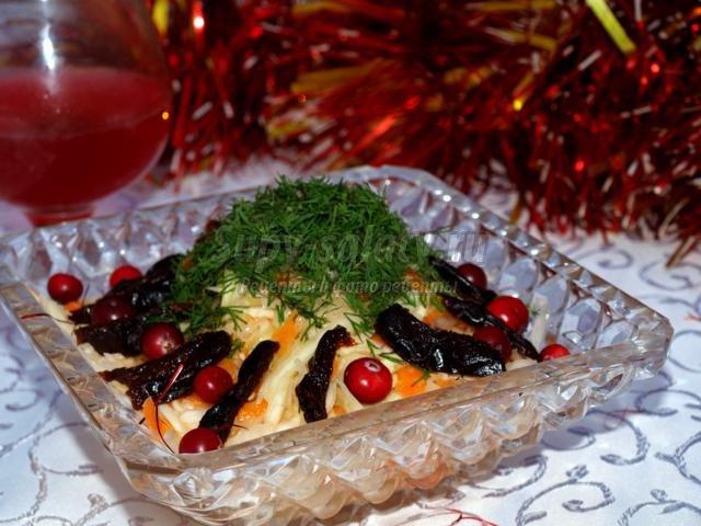 овощной салат на Новый год