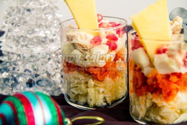 рыбный салат с гранатом к Новому году