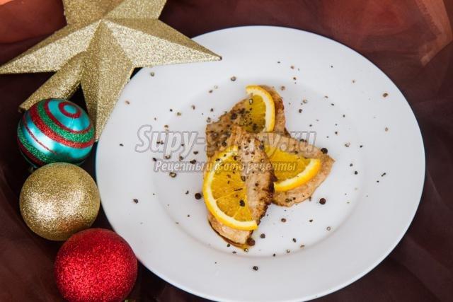 свинина с апельсинами к Новому году