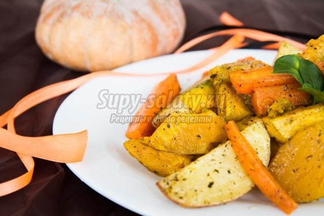 тыква с овощами на Хэллоуин