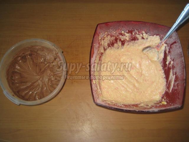 шоколадные и ванильные кексы с кокосом