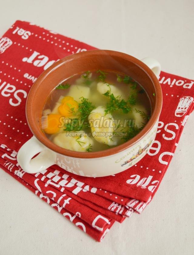 как делаются галушки для супа рецепт