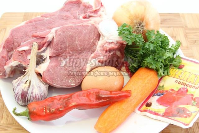 пасхальное заливное с мясом