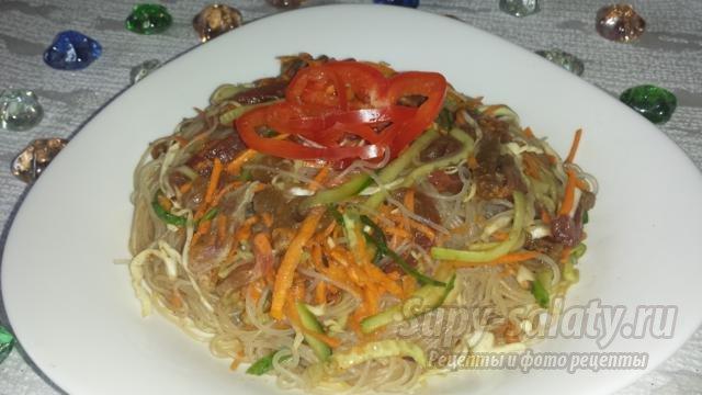 Салат фунчоза рецепт с фото и пошаговым приготовлением