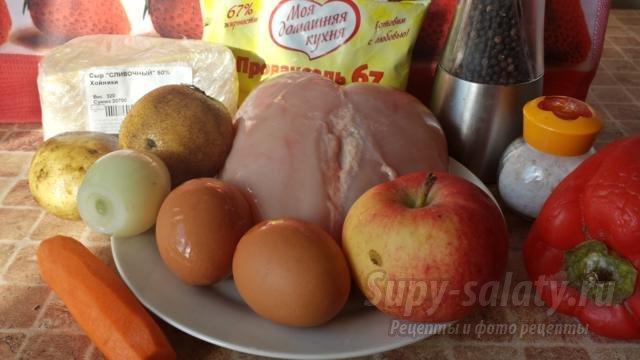 салат к Новому году с курицей. Календарь