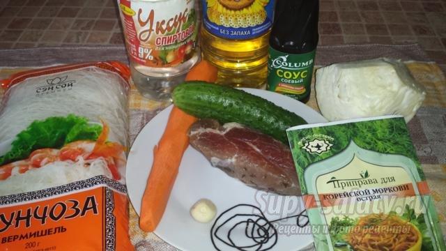 Салат фунчоза с курицей пошаговый рецепт с фото