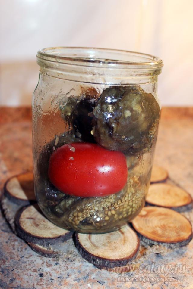 баклажаны печеные, консервированные на зиму