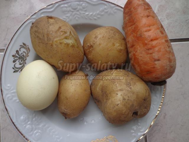 Оливье с нежной куриной грудкой и горчичным соусом, пошаговый рецепт с фото