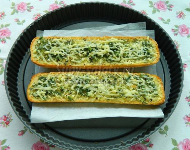 чесночный хлеб с сыром