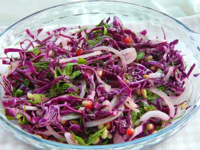 рецепт салата с баклажанами и орехами