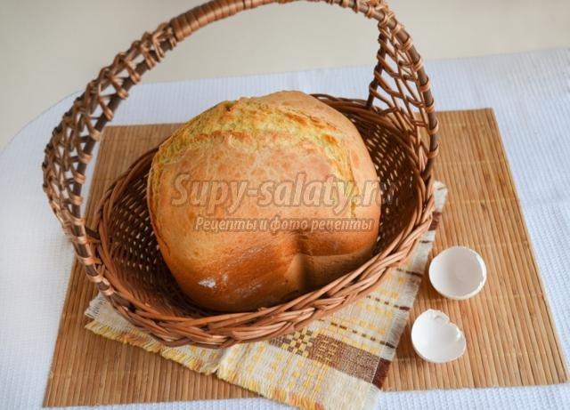 Яичный хлеб в хлебопечке - рецепт пошаговый с фото
