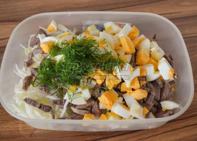 Рецепт салата из свиного языка с фото