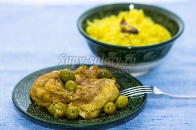 тажин из курицы с рисом по-мароккански