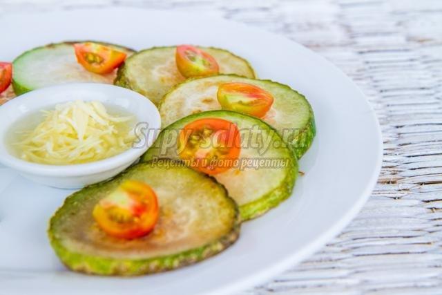 чесночная закуска из кабачков