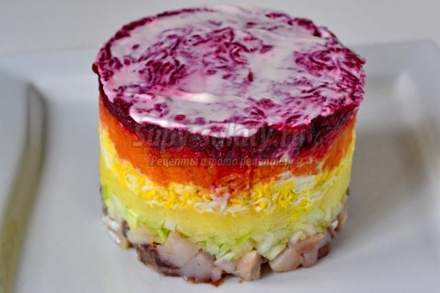 новогодний салат. Сельдь под шубой