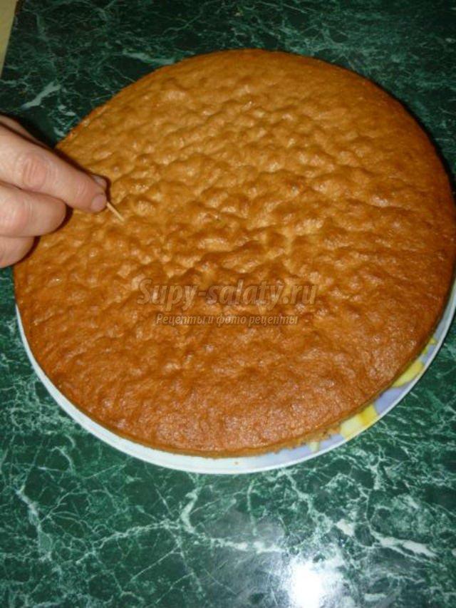 бисквитный торт. Нежный