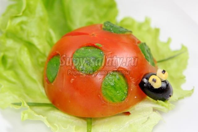 Салат божья коровка фото и рецепт с фото