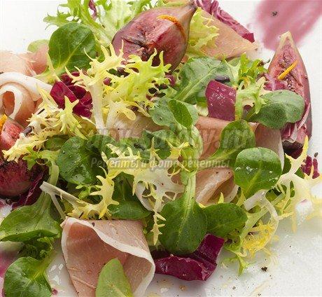 Вкусные салаты с прошутто