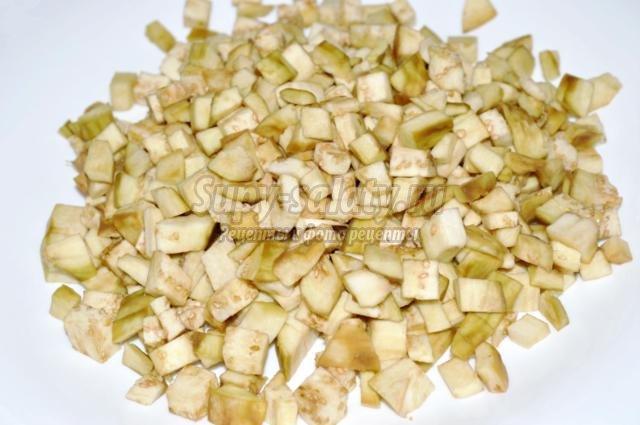 овощное лечо с баклажанами