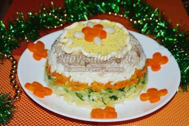 слоеные салаты с фото к новому году
