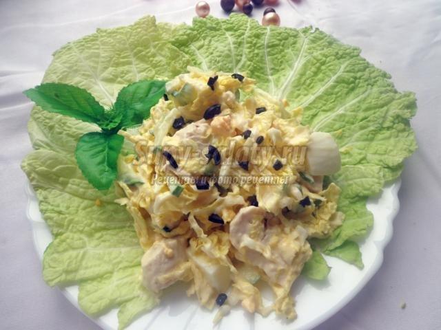 рецепт салата столичный с ветчиной и