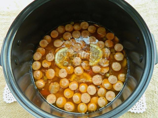 солянка грибная с перловкой в мультиварке