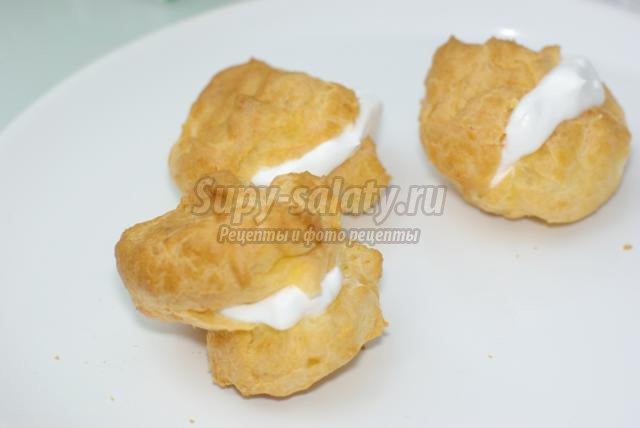 Заварные пирожные с кремом рекомендации