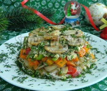 салат курочка на травке рецепт с картофелем