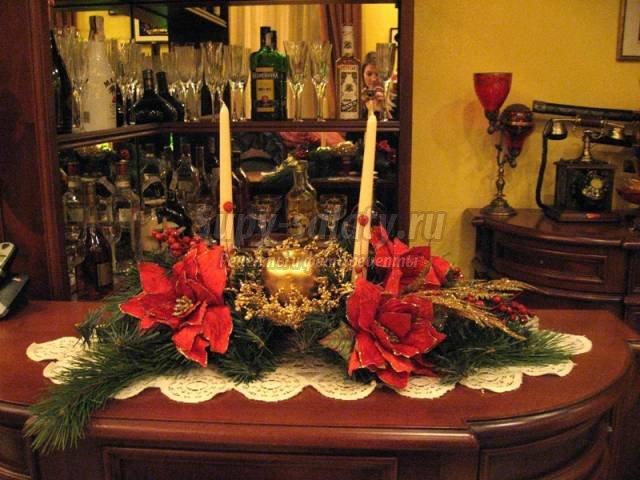 украшение новогоднего стола. Фото, идеи и мастер-классы