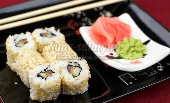 Как готовить домашние суши с кунжутом