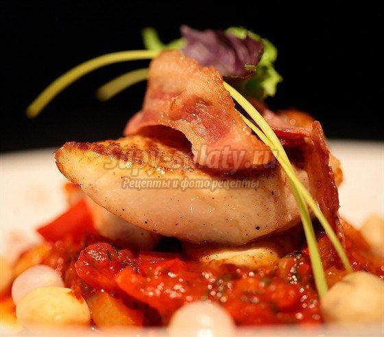 Рыба, запеченная с овощами по-провански