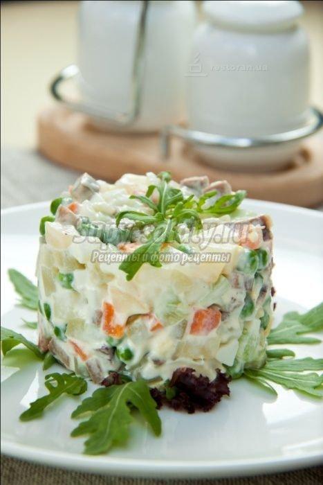 салат оливье в ресторанах фото