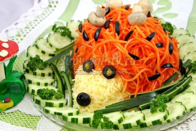 Рецепт салата с корейской морковью с пошагово