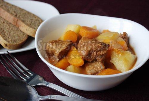 Жаркое из говядины с картошкой по-домашнему