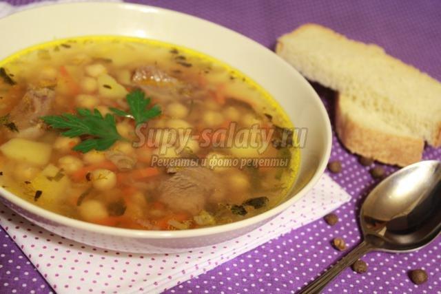 Рецепт супа с нутом без мяса