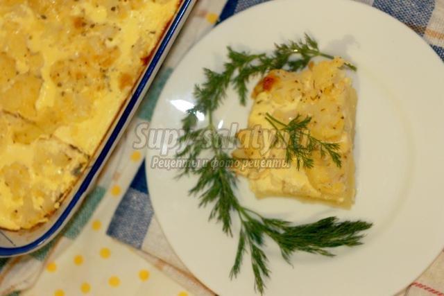 запеканка из цветной капусты и картофеля