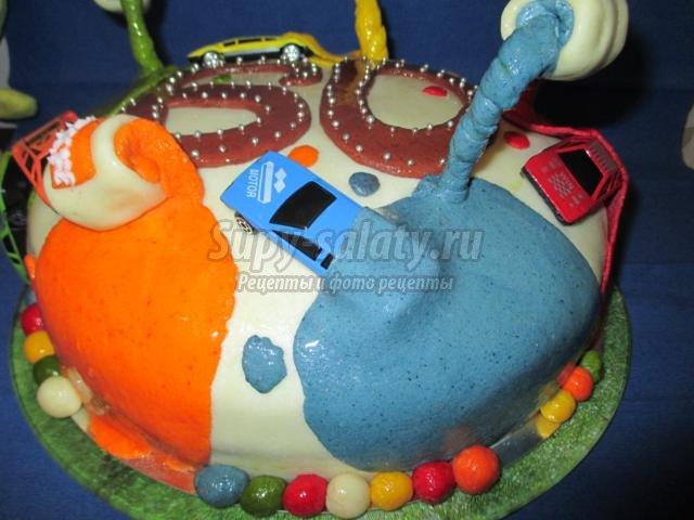 Торт с мастикой на день рождения рецепт пошагово