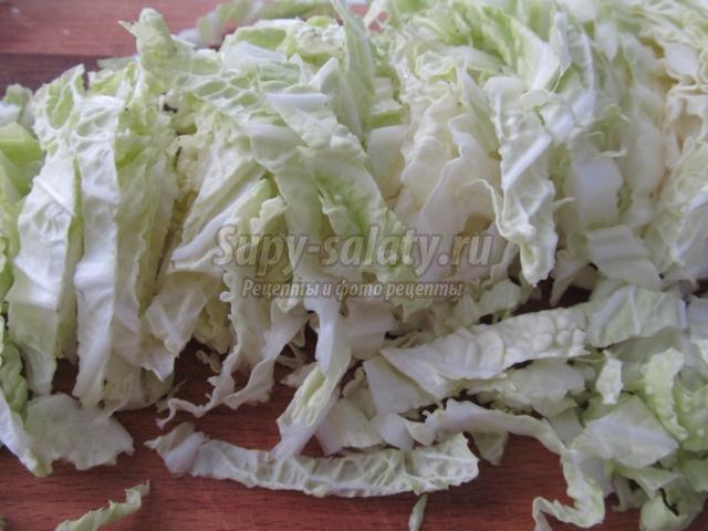 салат из пекинской капусты с огурцами. Вкус лета