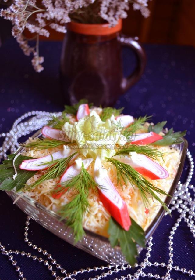 Салат из крабовых палочек: рецепт с фото очень вкусный