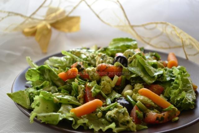Салат с моцареллой рецепт пошаговое для начинающих