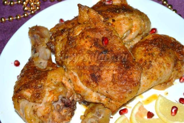 курица на Новый год в майонезно-лимонном соусе