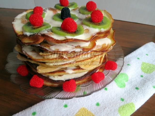 Торт фруктовый рай фото
