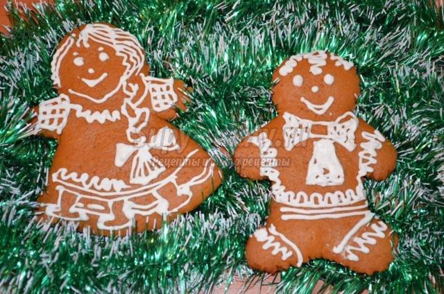рождественские пряники. Имбирные человечки