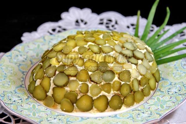 Салат ананас рецепт с пошагово классический