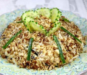 салат мужской с черносливом рецепт с фото