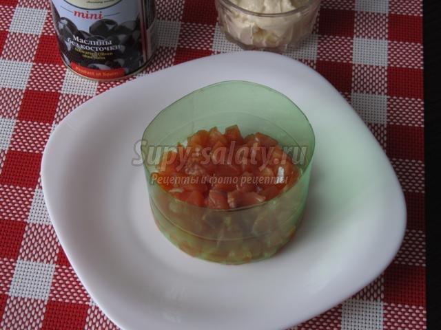 слоеный салат. Семга под шубой