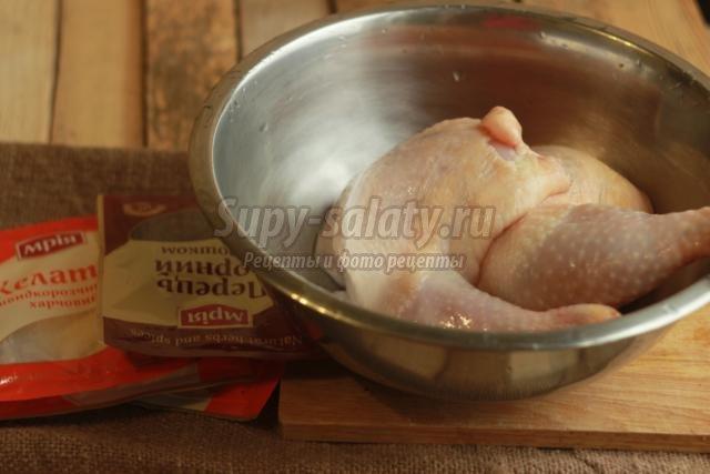 заливное из курицы с гранатом