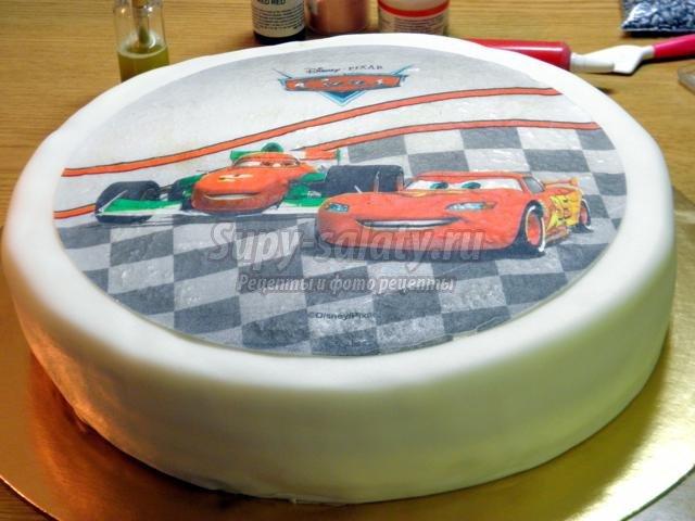 Как положить картинку на торт