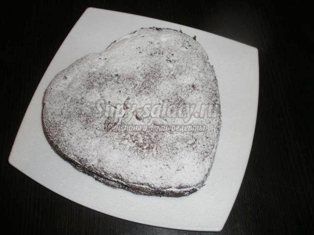 венский пирог на день Святого Валентина. Сердце