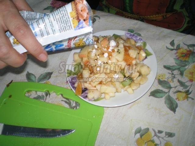 фруктовый салат. Воспоминание о лете